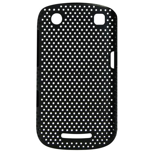 Exian Blackberry Curve 9360 Soft Plastic Case Net Pattern Black