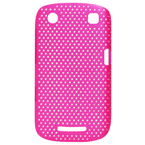 Exian Blackberry Curve 9360 Soft Plastic Case Net Pattern Pink