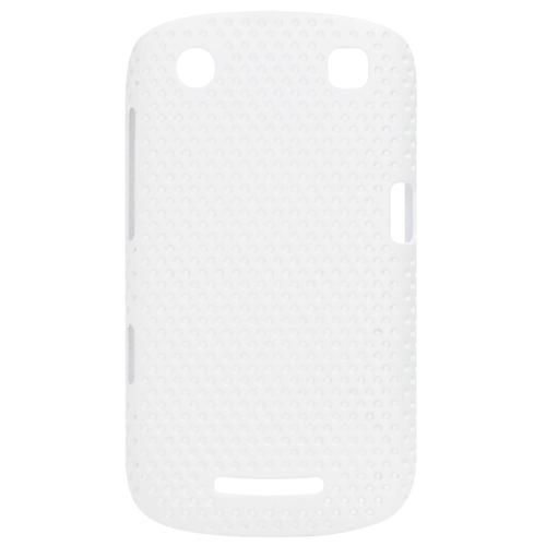 Exian Blackberry Curve 9360 Soft Plastic Case Net Pattern White