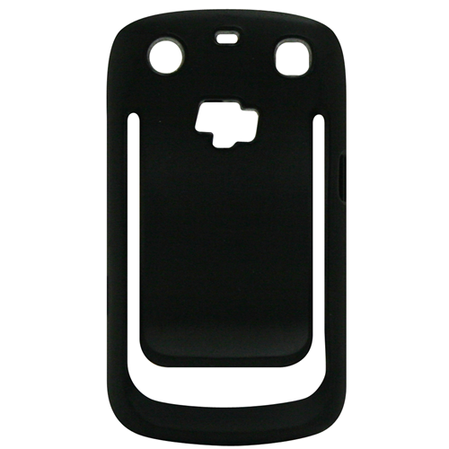 Exian Blackberry Curve 9360 TPU Bumper Case with Beltclip Black