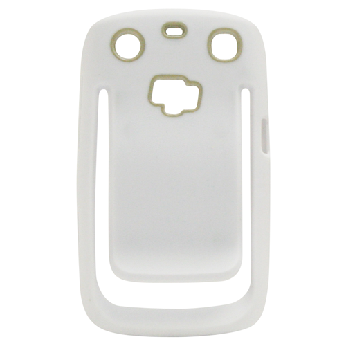 Exian Blackberry Curve 9360 TPU Bumper Case with Beltclip White