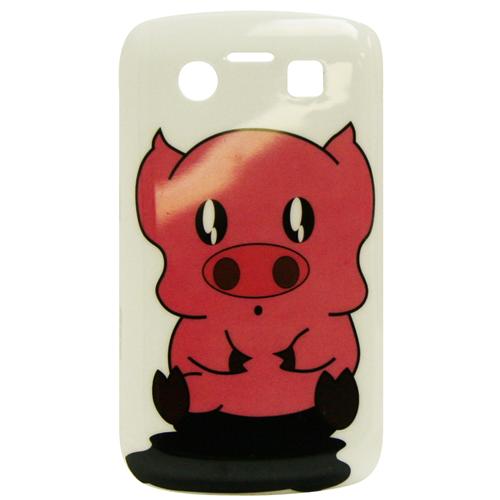 Exian Blackberry Bold 9700 Hard Plastic Case Exian Design Piggy Pink