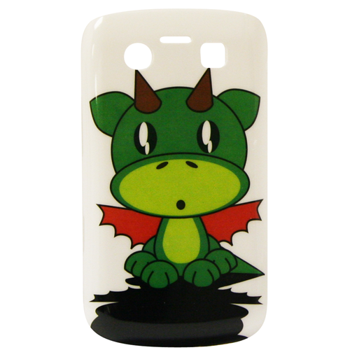 Exian Blackberry Bold 9700 Hard Plastic Case Exian Design Cartoon Dragon on White