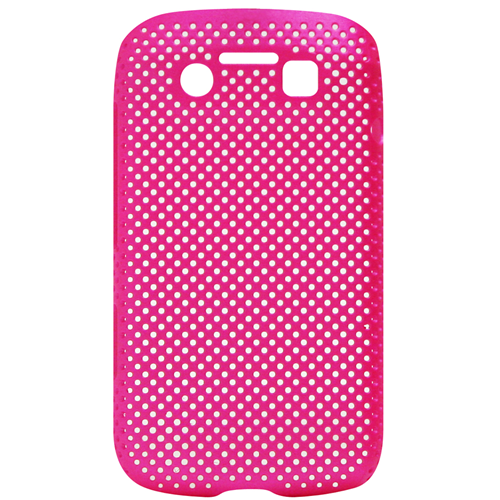 Exian Blackberry Bold 9790 Soft Plastic Case Net Design Pink