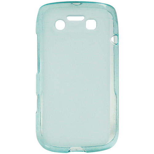 Exian Blackberry Bold 9790 TPU Case Frosted Transparent Blue