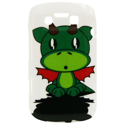 Exian Blackberry Bold 9790 Hard Plastic Case Exian Design Cartoon Dragon