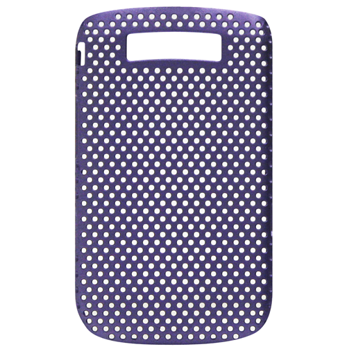 Exian Blackberry Torch 9800 Soft Plastic Case Net Design Purple