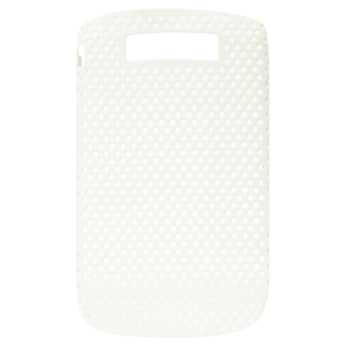Exian Fitted Soft Shell Case for Blackberry Torch 9800 - White