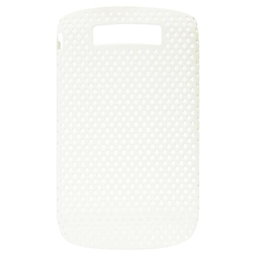 Exian Blackberry Torch 9800 Soft Plastic Case Net Design White