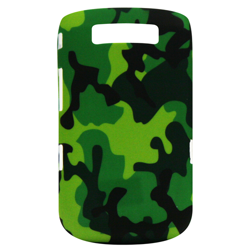 Exian Blackberry Torch 9800 Hard Plastic Case Exian Design Army Pattern Green