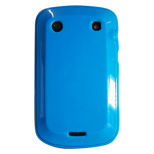 Exian Blackberry Bold 9900 TPU Case Solid Shinny Color Blue