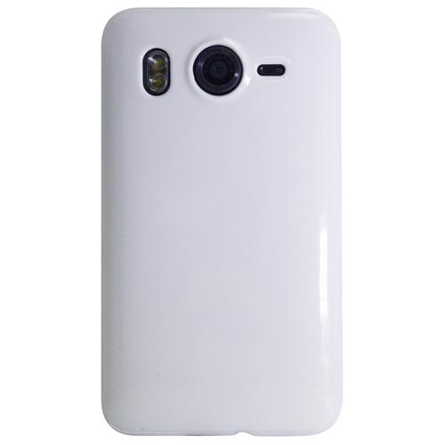 Exian HTC Desire HD TPU Case Solid Color White