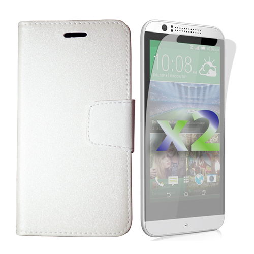 Exian Fitted Soft Shell Case for HTC Desire 510 - White