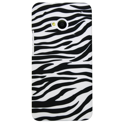 Exian HTC One M7 Had Plastic Case Zebra Pattern