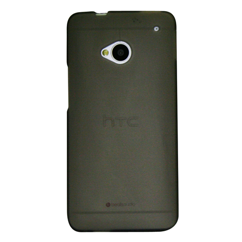 Exian HTC One M7 TPU Case Frosted Transparent Grey