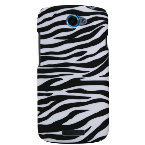 Exian HTC One S Hard Plastic Case Zebra Pattern