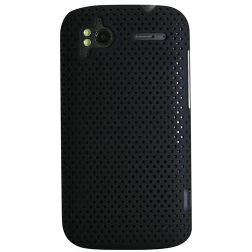 Exian HTC Sensation Soft Plastic Case Net Design Black