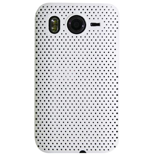 Exian HTC Desire HD Soft Plastic Case Net Design White