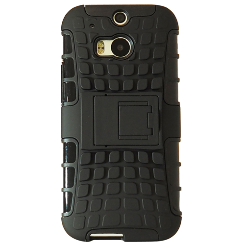 Exian HTC One M8 Amored Case with Stand Black