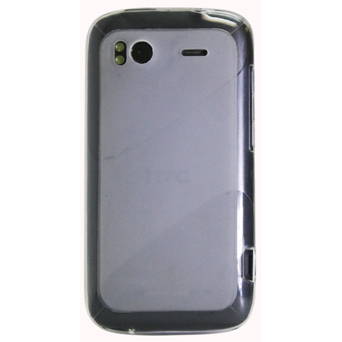 Exian HTC Sensation TPU Case Frosted Transparent Clear