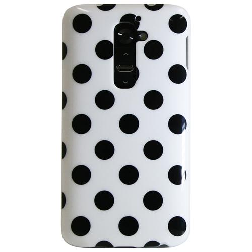 Exian LG G2 TPU Case Polka Dots White