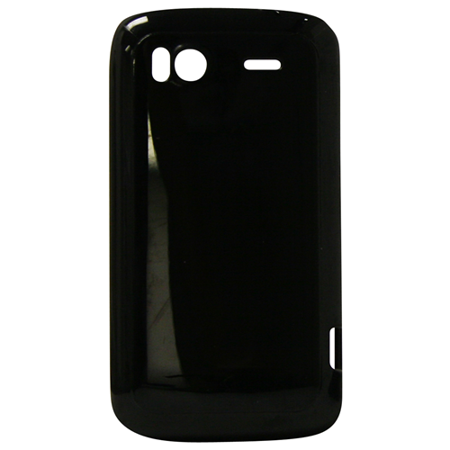 Exian HTC Sensation TPU Case Solid Shiny Black
