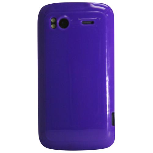 Exian HTC Sensation TPU Case Solid Shiny Purple