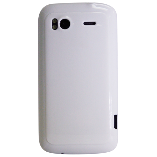 Exian HTC Sensation TPU Case Solid Shiny White