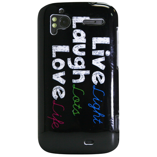 Exian HTC Sensation Hard Plastic Case Exian Design Live/Laugh/Love(1) Black