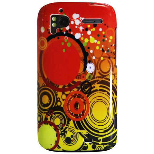 Exian HTC Sensation Hard Plastic Case Exian Design Multi Color Circles Orange