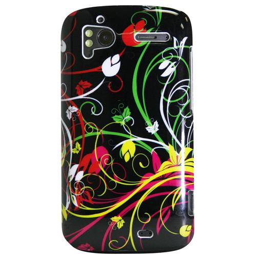 Exian HTC Sensation Hard Plastic Case Exian Design Multi Color Swirl Pattern