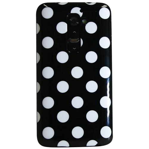Exian LG G2 TPU Case Polka Dots Black
