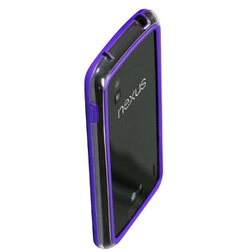 Exian Google LG Nexus 4 Bumper Case Purple