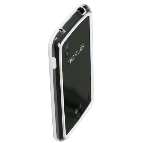 Exian Fitted Soft Shell Case for LG Nexus 4;Nexus - White