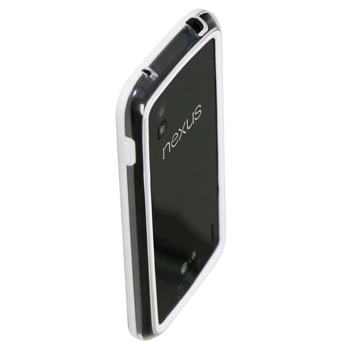 Exian Google LG Nexus 4 Bumper Case White