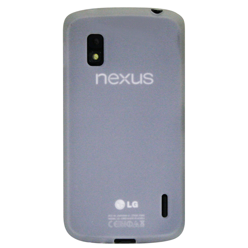 Exian Google LG Nexus 4 TPU Case Frosted Transparent Clear