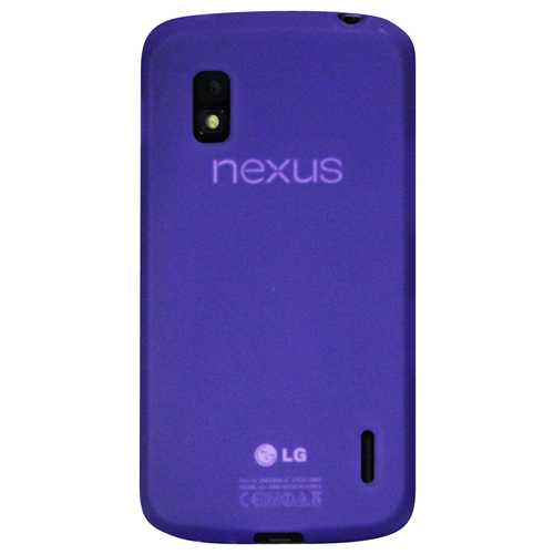 Exian Google LG Nexus 4 TPU Case Frosted Transparent Purple