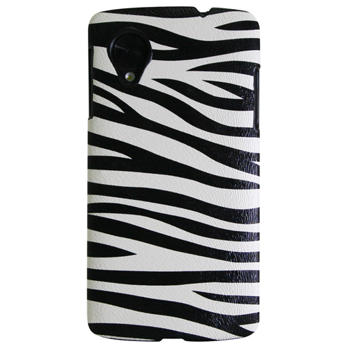 Exian Fitted Hard Shell Case for Nexus - Black/White