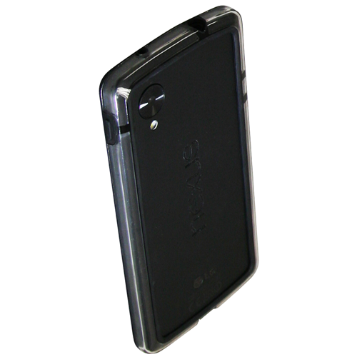 Exian LG Google Nexus 5 Hard Plastic Bumper Case Black