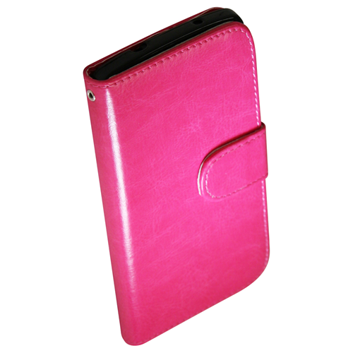 Exian LG Google Nexus 5 PU Leather Wallet Hot Pink
