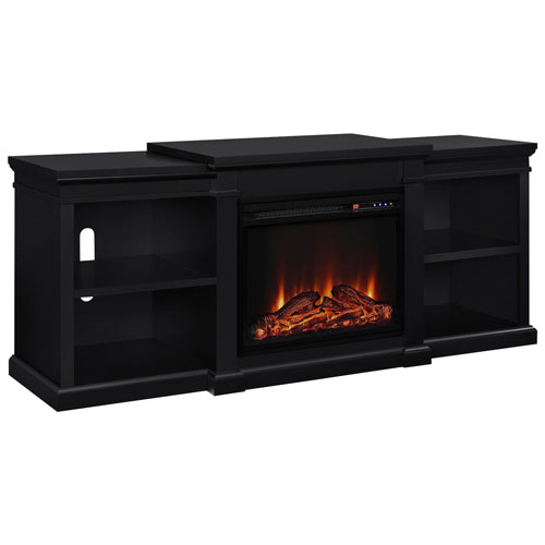 Dorel Manchester Electric Fireplace Tv Stand With Logs Firebox