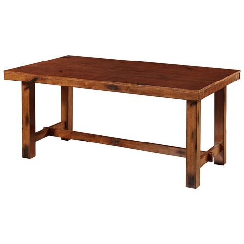 Table de salle manger rustique 8 places ch ne fonc for Table de salle a manger rustique