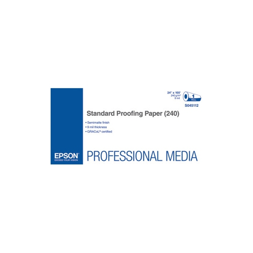 Epson Proofing Paper - 24 X 100 Ft - 240 G/m Grammage -