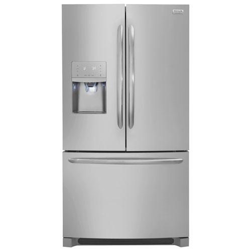 Réfrigérateur 2 portes 36 po 28,6 pi3 distributeur eau et glaçons de Frigidaire - Inox antiempreinte