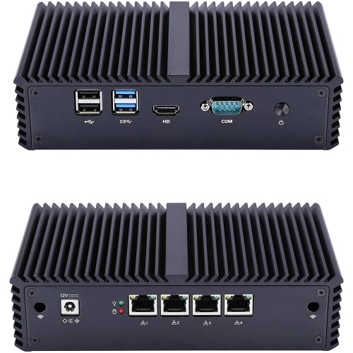 QOTOM Q355G4 Barebone Mini PC for pfSense - Core i5, AES-NI, 4 Intel LAN, Industrial Mini PC Firewall Gateway Router (Q355G4)