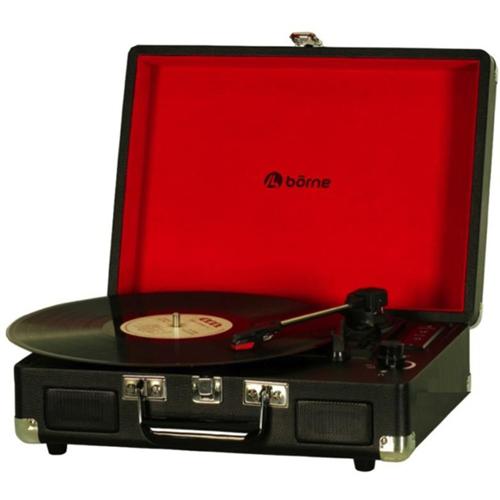 Tourne-disque portatif avec haut-parleur de Borne