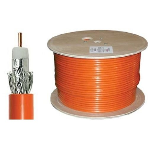 PPC P6E77EFORF RG6 Coaxial Cable Orange Burial Cable - 1,000ft