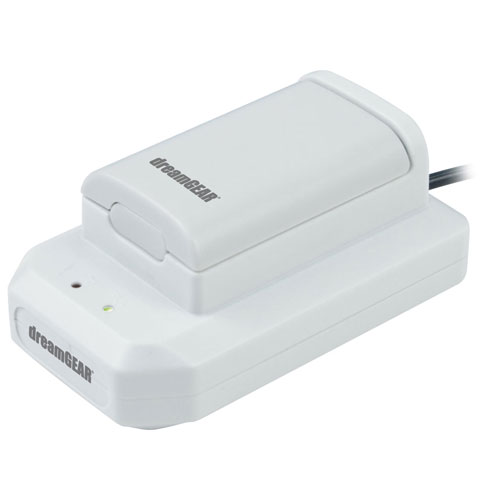 dreamGEAR Power Dock with Rechargeable Battery for Xbox 360 - White