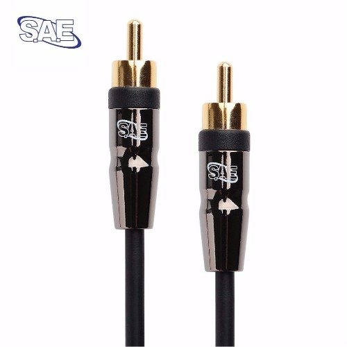 SAE RCA Male to RCA Male Digital Audio Cable 10 FT