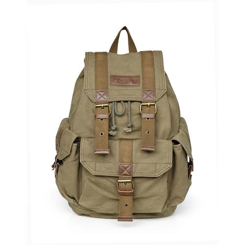 Gootium Canvas Backpack - Vintage Rucksack Unisex Casual Daypack ... 0fbcc069df7df